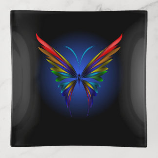 Bandejas Bandeja abstrata do Trinket da borboleta