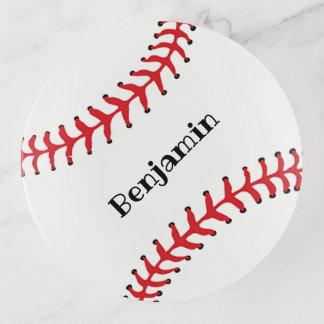 Bandejas Bandeja de costura do Trinket do design do basebol