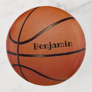 Bandejas Bandeja do Trinket do design do basquetebol