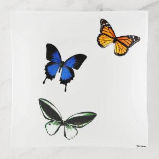Bandejas Bandeja do Trinket do teste padrão de borboleta