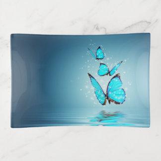 Bandejas Bandeja mágica do Trinket das borboletas