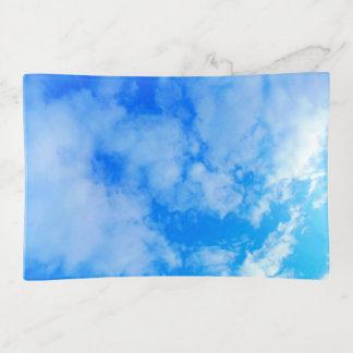 Bandejas bandeja média do Trinket do céu azul