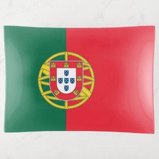 Bandejas Bandeja patriótica do trinket com a bandeira de