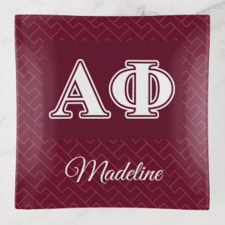 Bandejas Branco da phi e letras alfa de Bordeau