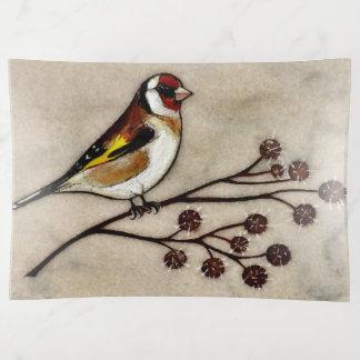 Bandejas Design artístico do pássaro