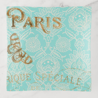 Bandejas Design do ouro de Paris do vintage