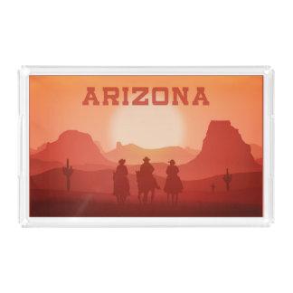 Bandejas do serviço do por do sol da arizona