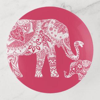 Bandejas Elefante do Henna - marroquino