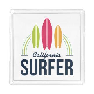 Bandejas feitas sob encomenda do surfista do lugar