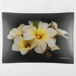 Bandejas Flores de cetim elegantes
