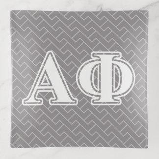 Bandejas Letras alfa do Bordéus da phi