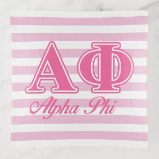 Bandejas Letras alfa do rosa da phi