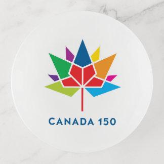Bandejas Logotipo do oficial de Canadá 150 - multicolorido