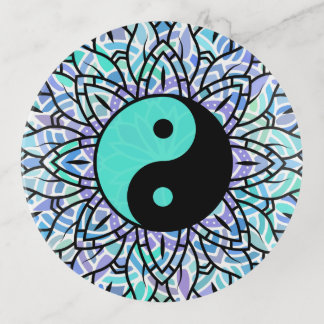 Bandejas Mandala floral colorida de Yin-Yeng