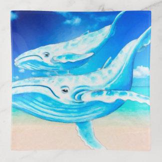 Bandejas Paraíso das baleias azuis