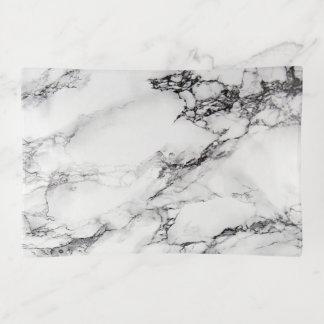 Bandejas Pedra de mármore do branco cinzento e do preto