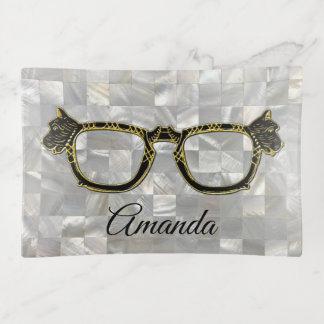 Bandejas Suporte do Eyeglass do cão do Scottie