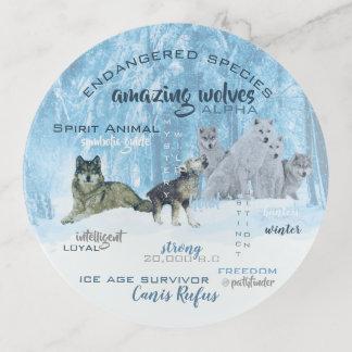 Bandejas Tipografia surpreendente | dos lobos personalizado