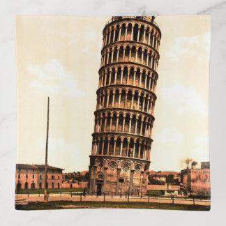 Bandejas torre inclinada do vintage de Pisa
