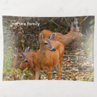 Bandejas Um trio de cervos de cauda negra