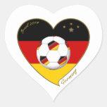 Bandera de ALEMANIA FÚTBOL de equipo nacional 2014 Adesivo Coração