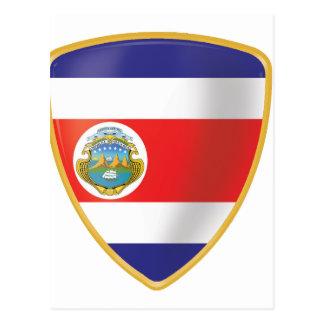 Bandera de Costa Rica Cartoes Postais