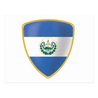 Bandera de El Salvador Cartão Postal