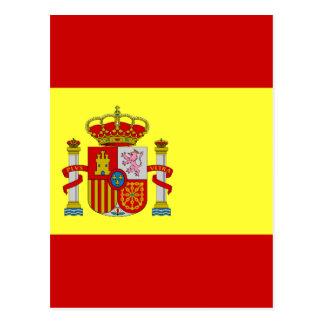 Bandera espanhola Española da bandeira Cartão Postal