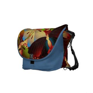 Bando das borboletas - azul bolsa mensageiro