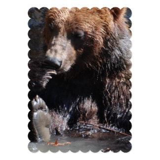 Banhando o urso convite 12.7 x 17.78cm