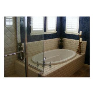 Banheiro do azulejo do metro cartão de visita grande