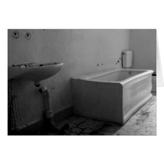 Banheiro (preto e branco) cartão de nota