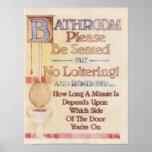 Banheiro---Seja assentado por favor Impressão
