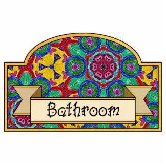 Banheiro - sinal decorativo foto esculturas