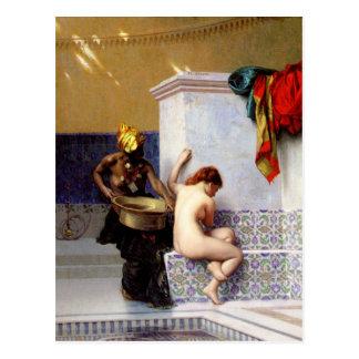 Banho do Moorish por Jean-Leon Gerome Cartão Postal