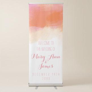 Banner Retrátil A boa vinda do casamento do beira-mar cora