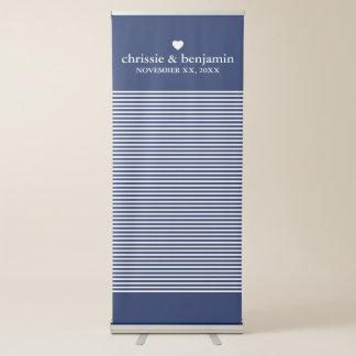Banner Retrátil Listras feitas sob encomenda do noivo da noiva do