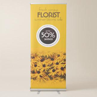 Banner Retrátil O amarelo bonito floresce a venda do verão do