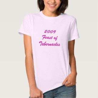 Banquete 2009 de tabernáculos t-shirts