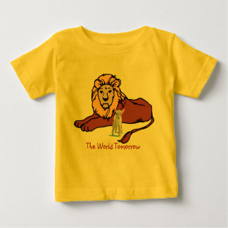 Banquete de tabernáculos e do mundo amanhã camiseta para bebê