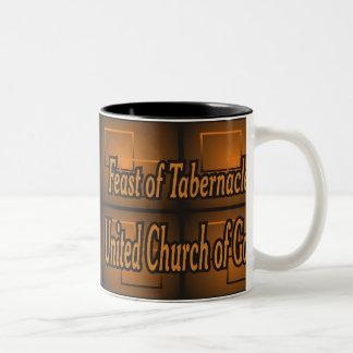 Banquete do copo de café dos tabernáculos caneca de café em dois tons