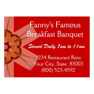 Banquete famoso do pequeno almoço de Fanny Cartoes De Visitas