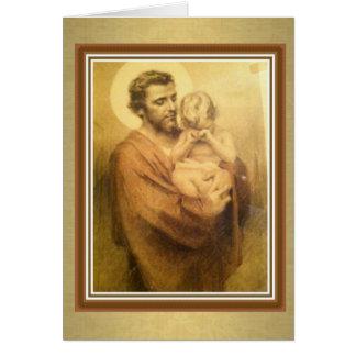 Banquete religioso do cartão de St Joseph