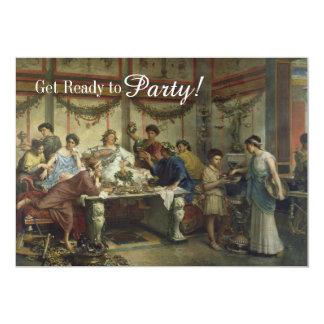 Banquete romano antigo do partido de comensal