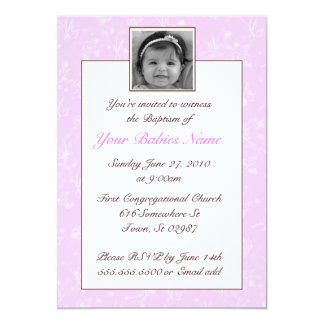 Baptismo/batismo da menina convites personalizados