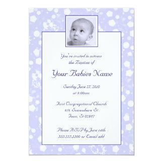 Baptismo/batismo do menino convite personalizados
