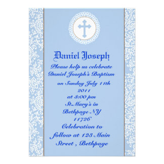 Baptismo/batismo dos bebés convites personalizado