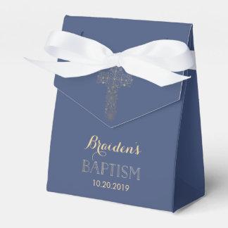 Baptismo, caixa do favor do batismo - cruz do ouro