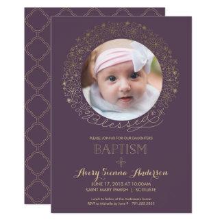 Baptismo, convite da foto do batismo, menina