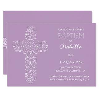 Baptismo, convite do batismo - bebé